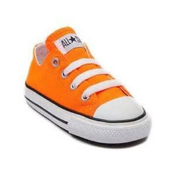 Converse Kids' Chuck Taylor All Star Core Ox (Infant/Toddler) Neon Orange Toddler (1-4