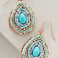 Verdant Maze Drops by Anthropologie in Turquoise Size: One Size Earrings