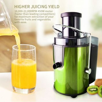 Juicer Extractor Stainless Steel Centrifugal Juicer  Machine High Yield 450-watt