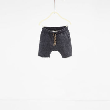 Organic cotton seam design shorts - SHORTS-BABY BOY | 3 months-3 years-KIDS | ZARA United States