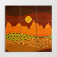 Color/Landscape 9 (By vivigonzalezart) Wood Wall Art by vivigonzalezart