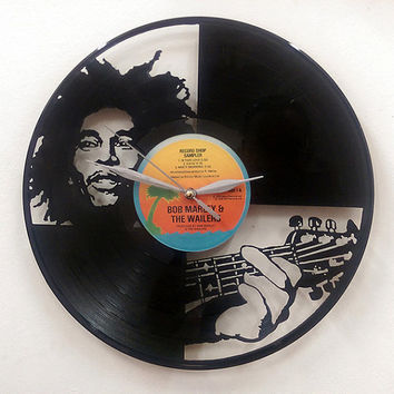 Bob Marley Wall Art -Vinyl LP Record Clock or Framed -Great Reggae Gift
