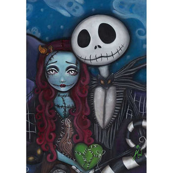 Jack Skellington This Is True Love Art Print
