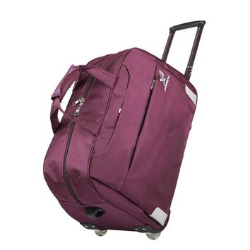 Trolley Travel Bag Hand Luggage Rolling Duffle Bags Waterproof Oxford Suitcase Wheels Carry On Luggage Unisex small size