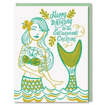 Paper Parasol Press - Enchanting Creature Mermiad' Card