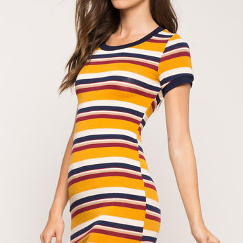 Stripe Hacci Tee Dress