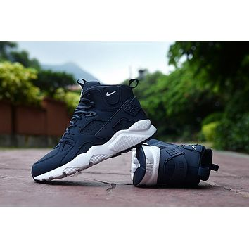 Air Huarache Run Ultra High Navy Sneaker Shoes