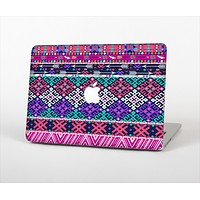 The Pink & Teal Modern Colored Aztec Pattern Skin Set for the Apple MacBook Air 11""