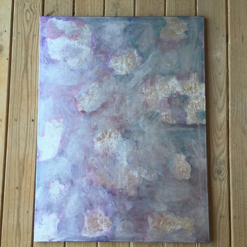 Large Canvas Art, Abstract Painting, Silver Wall Art, Original Painting, Acrylic Painting, Silver Leaf, 30x40 Large Painting, Modern Art