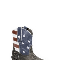 Roper Ladies Fashion Snip Toe Boots American Flag Shorty