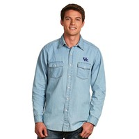 Antigua Kentucky Wildcats Chambray Button-Down Shirt
