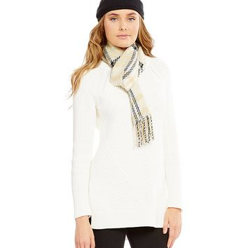 Echo Plaid Bouclé Muffler & Knit Headband Gift Set | Dillards