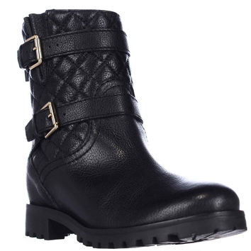 Kate Spade New York Samara Quilted Motorcycle Boots - Black