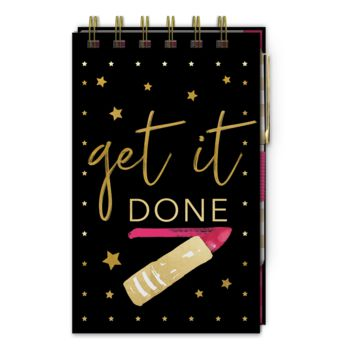 Get It Done Top Spiral Bound Notepad With Pen