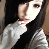 emo girls with black hair - Google Search