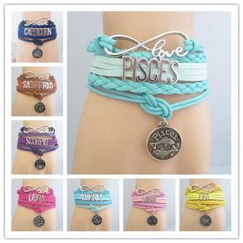 infinity love constellation zodiac bracelet