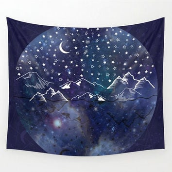Sun and Moon tapestry, Bohemian tapestry, hippie tapestry, galaxy tapestry, hippie wall tapestry, space tapestry, wall hanging