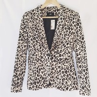 *New With Tags H&M Animal Print Blazer