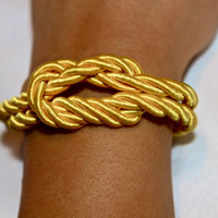 Nautical Rope Knot Bracelet with Anchor Charm by p4pministry