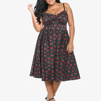 Stop Staring! Cherry Print Jennifer Dress | Torrid