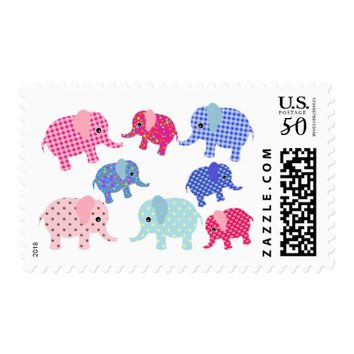 Elephants Baby Shower Stamps