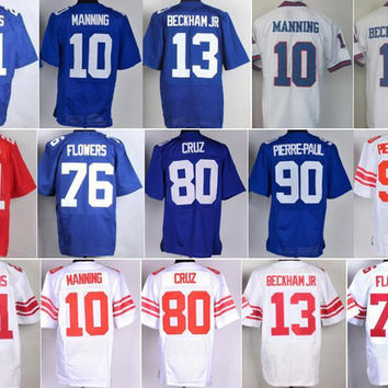 Color Rush 21 Landon Collins Jersey 13 Odell Beckham Jr 10 Eli Manning 76 Ereck Flowers 80 Victor Cruz 90 Jason Pierre-Paul 28 Eli Apple