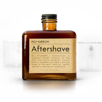 AFTERSHAVE - organic-herbal-healing-soothing-spiced-glass amber bottle - 10 fluid ounces
