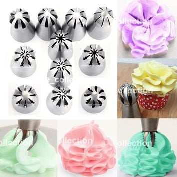 1pc Sphere Ball Shape Stainless Steel Icing Piping Nozzles Pastry Tips Fondant Cupcake Cake Decor Baking DIY Buttercream Tools