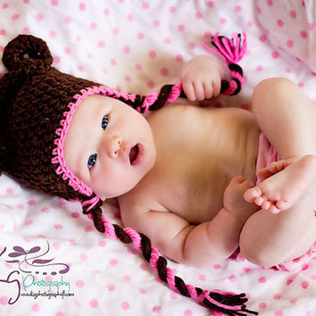 Teddy Bear Crochet 0-3 Months to Adult Sizes PDF Pattern ONLY newborn toddler hat pull down ears