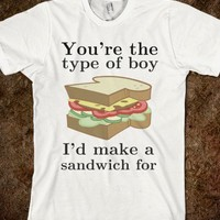 Sandwich making boy-Unisex White T-Shirt