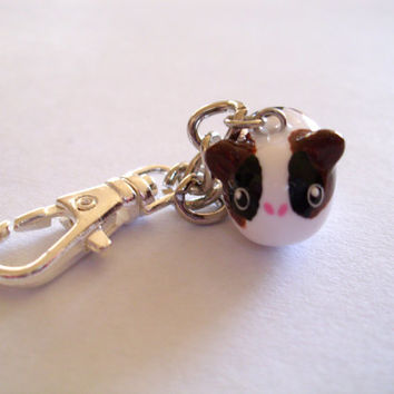 Tri Color Guinea Pig Purse/Bag Charm