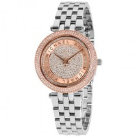 MICHAEL KORSMini Darci Crystal Pave Dial Two Tone Ladies WatchItem No. MK3446