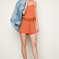 Connie Lace Trim Romper