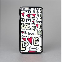 The Love and Hearts Doodle Pattern Skin-Sert for the Apple iPhone 6 Skin-Sert Case
