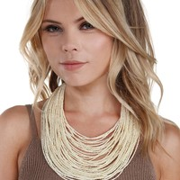 Ivory Seed Beaded Necklace
