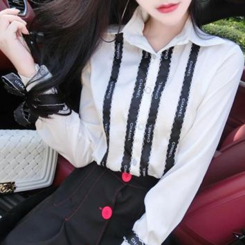 CHANEL Ribbon shirt H-AGG-CZDL
