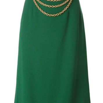 ONETOW Céline Vintage chain embellished skirt