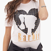 White Barbie Graphic Print T-Shirt