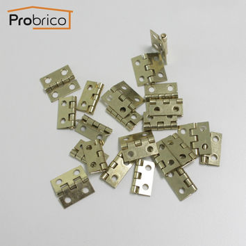 Probrico 100 Pcs Golden Finish Jewelry Box Hinges 18Mm*19Mm Brushed Brass Small Box Hinges Ch34Bb