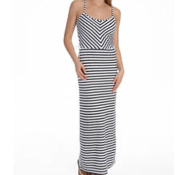 Juicy Couture JG009068 Terry Striped Maxi Dress