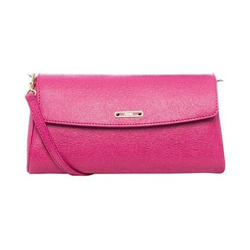 Fendi 'Crayons' Small SaffianLeather Shoulder Bag 8M0327 F09 F0PXB Fuchsia Pink