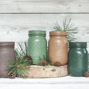 Cabin decor forest colors mason jar home decor forest wedding centerpieces woodland forest decor woodland wedding rustic decor