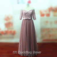 Real Photos Half Sleeves Plus Size Mother of the Bride Dresses  Custom Made Evening Dress Wedding Party Dress Prom Gown