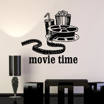 Vinyl Wall Decal Movies Cinema Film Popcorn Room Decor Stickers Mural Unique Gift (ig3342)