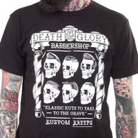 Kustom Kreeps Headhunters Voodoo Barbershop Men's T-Shirt | Rockabilly