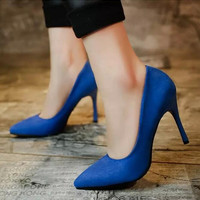 Women Work Shoes High Heels Pointed toe High Heels Pumps Free Shipping