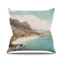 "Nastasia Cook ""Aloha"" Mountain Beach Throw Pillow"