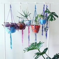 Cotton Candy Boho Decor~ Bohemian Home Décor~ Macrame Plant Hanger~ Hanging planter~ Cotton~ Indoor planter~ Indoor plant hanger~ Dorm Room