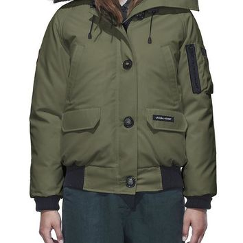Canada goose chilliwack bomber winter WOMEN Down jacket/ArmyGreen