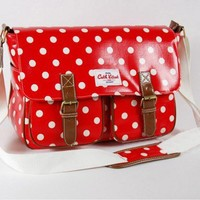Cute Red Point Wave Point Shouleder Bag
